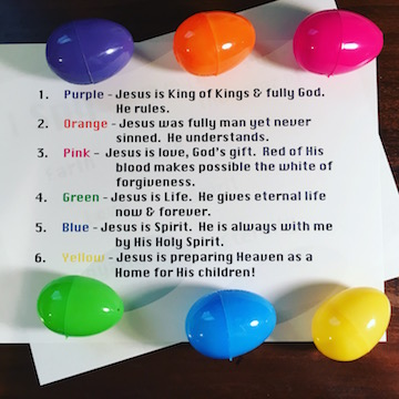 Easter Eggs Amp Colors Object Lesson