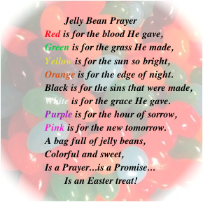 image relating to Jelly Bean Prayer Printable titled Christian Easter Classes Guidelines for Family members Church