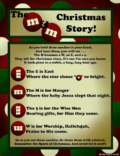 Here is another cute printable of the M&M Christmas poem from Prepared ...