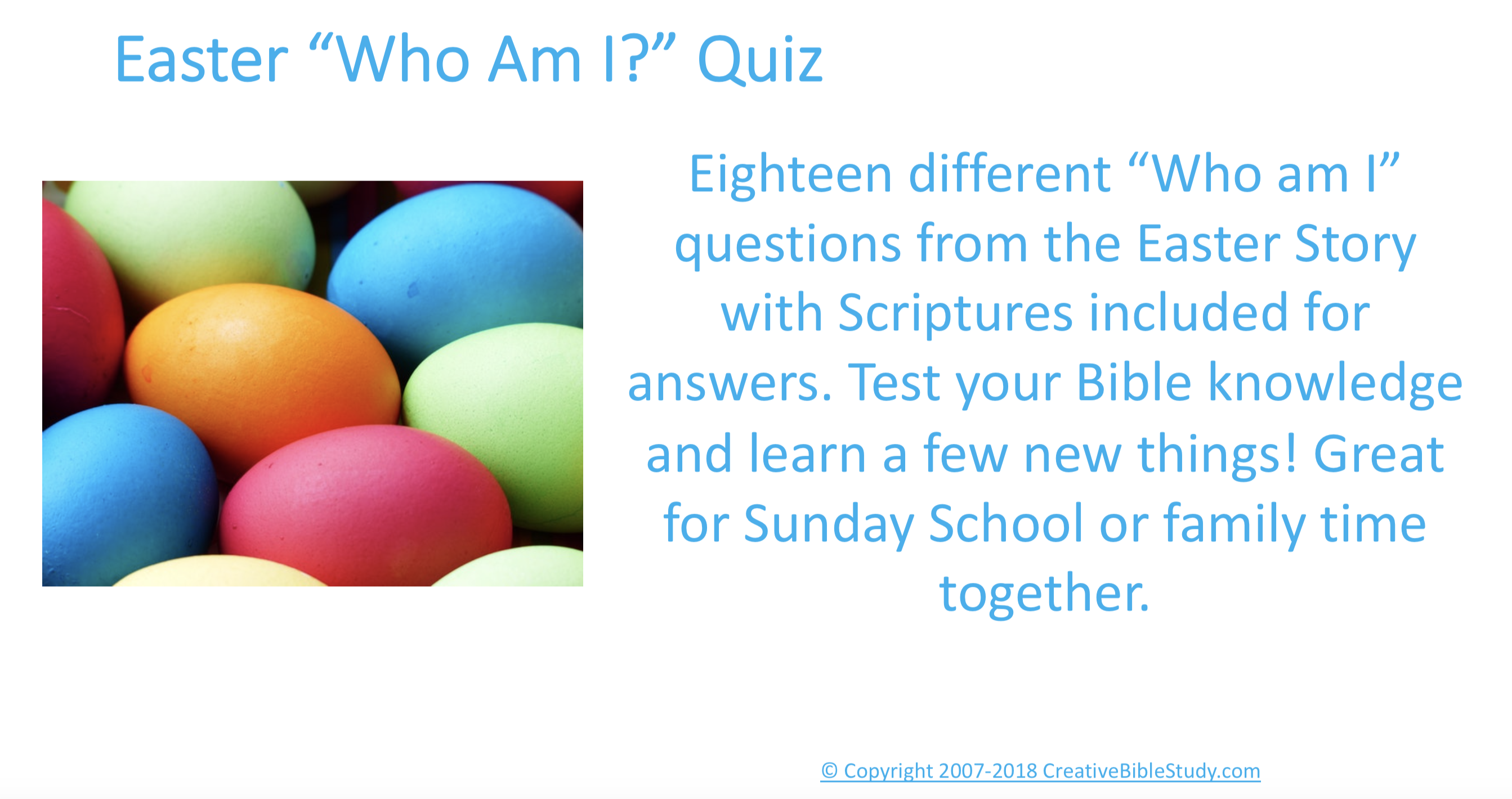 An Easter Quiz Game - Kids, Youth & Adults